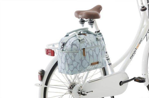 Coole Design Fahrradtasche in hellblau für den Gepäckträger
