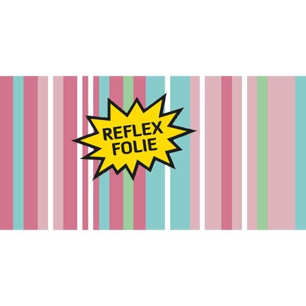 Folie Rosa Streifenmuster (Reflex)