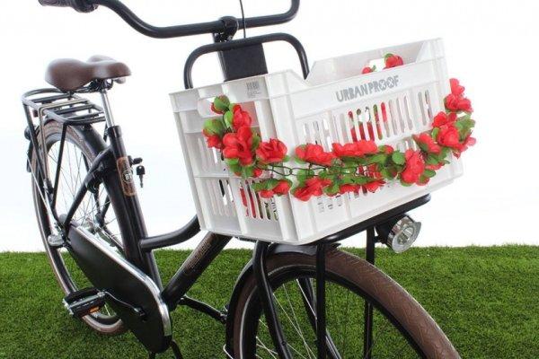 Deko Girlande Garland (rote Blumen)
