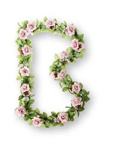 Deko Girlande (rosa Rosen)
