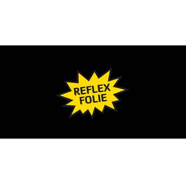 Folie Uni Schwarz (Reflex)