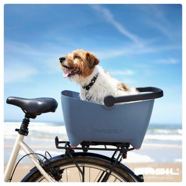 Pflegeleichter Hundekorb fürs Fahrrad von Basil