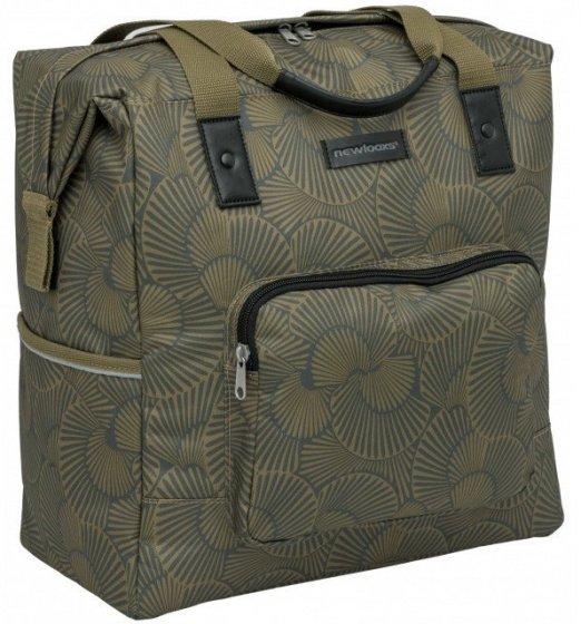 Packtasche Shopper für Gepäckräger olivgrün