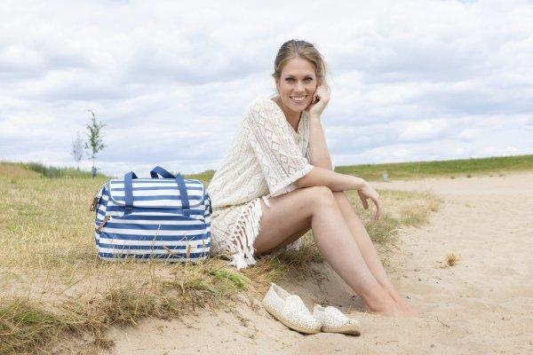 Tasche Shopper Tosca (blau-weiß)