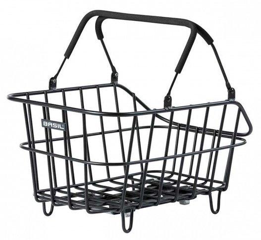 Design-Fahrradkorb abnehmbar schwarz
