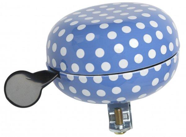 Retro-Design Ding-Dong Glocke mit Polka Dots in blau-weiß