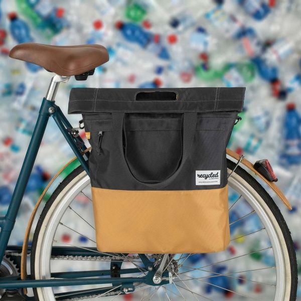 Urbanproof Design Fahrrad-Shopper recycelt gelb-schwarz