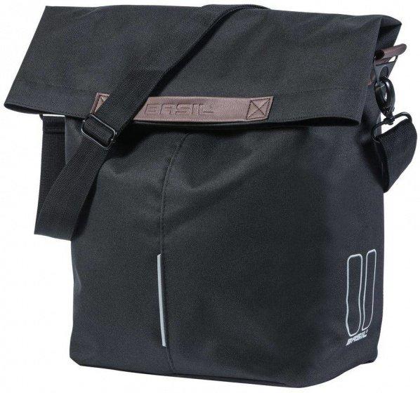 Fahrradtasche Shopper für den Gepäckträger urbanes Design schwarze