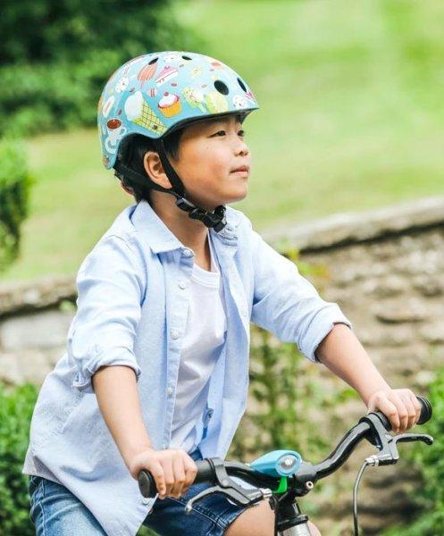 Mini Hornit Lids Kinderhelm Fahrrad Candy blau Junge
