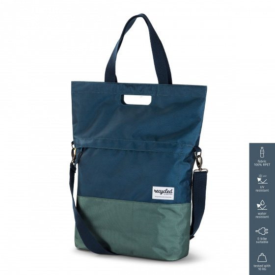 Urban Proof Shopper blau-grün recyceltes Design